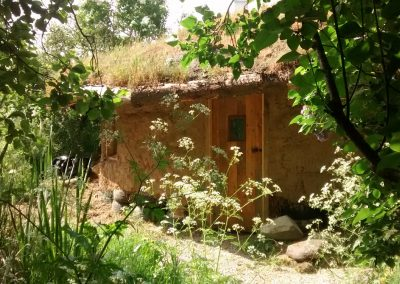 Strawbale roundhouse & rainwater harvesting